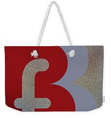 Your Name - B F Or F B Monogram Weekender Tote Bag