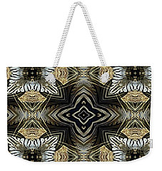 Zebra V Weekender Tote Bag by Maria Watt
