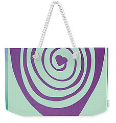 Zen Heart Labyrinth Path Weekender Tote Bag