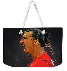 Zlatan Ibrahimovic Weekender Tote Bag by Semih Yurdabak