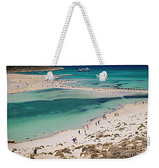 Weekender Tote Bag featuring the photograph Crete by Milena Boeva