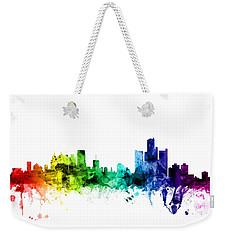 Detroit Michigan Skyline Weekender Tote Bag