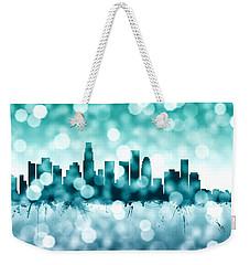 Los Angeles California Skyline Weekender Tote Bag by Michael Tompsett