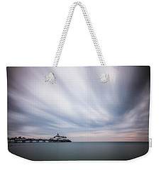 10 Minute Exposure Of Eastbourne Pier Weekender Tote Bag