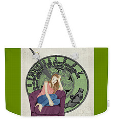 Weekender Tote Bag featuring the digital art 10 Months by Megan Dirsa-DuBois