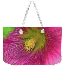 Weekender Tote Bag featuring the photograph Pink Flower by Elvira Ladocki