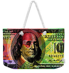 Benjamin Franklin - Full Size $100 Bank Note Weekender Tote Bag