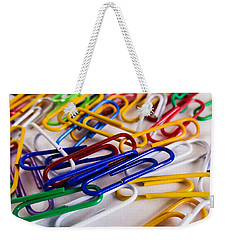 100 Paperclips Weekender Tote Bag by Julia Wilcox