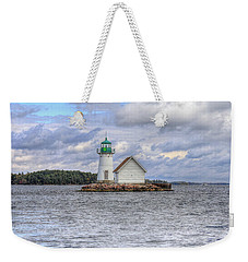 1000 Island Lighthouse Weekender Tote Bag by Sharon Batdorf