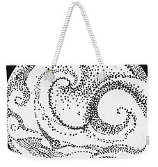 Weekender Tote Bag featuring the painting #1002 Sea And Shore by Kym Nicolas