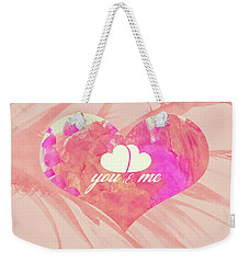 10183 You And Me Weekender Tote Bag