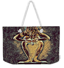 1083s-zac Dancer Squatting On Pedestal With Amulet Nudes In The Style Of Antonio Bravo  Weekender Tote Bag