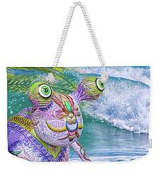 10859 Aliens In Paradise Weekender Tote Bag