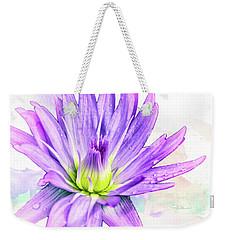 10889 Purple Lily Weekender Tote Bag