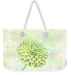 10891 Green Chrysanthemum Weekender Tote Bag by Pamela Williams