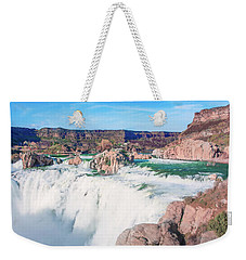 10917 Shoshone Falls Weekender Tote Bag by Pamela Williams