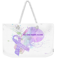 10969 No One Fights Alone Weekender Tote Bag