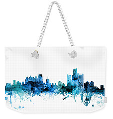 Detroit Michigan Skyline Weekender Tote Bag