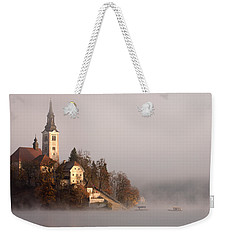 Misty Lake Bled Weekender Tote Bag