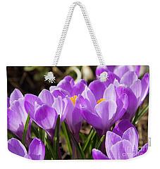 Purple Crocuses Weekender Tote Bag by Irina Afonskaya