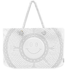 110-happy Face 0115 Wampum White Weekender Tote Bag