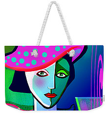 1150 - Woman With A  Pocodot Hat ... Weekender Tote Bag