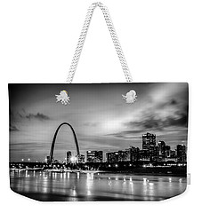 City Of St. Louis Skyline. Image Of St. Louis Downtown With Gate Weekender Tote Bag