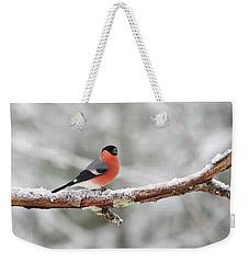 Eurasian Bullfinch Weekender Tote Bag