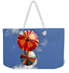 Weekender Tote Bag featuring the photograph 12 Oclock High by AJ Schibig