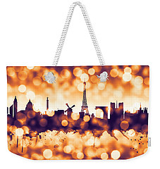 Paris France Skyline Weekender Tote Bag by Michael Tompsett