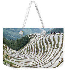 Terrace Fields Scenery In Spring Weekender Tote Bag