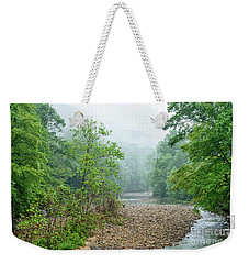 Weekender Tote Bag featuring the photograph Williams River Summer Mist by Thomas R Fletcher