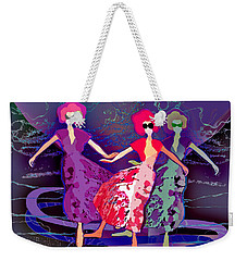 1227 - Dusk Dancers Weekender Tote Bag by Irmgard Schoendorf Welch