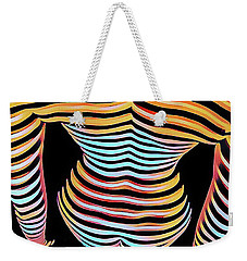 1262s-mak Woman's Strong Shoulders Back Hips Rendered In Composition Style Weekender Tote Bag