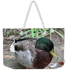 Duck Weekender Tote Bag by Suhas Tavkar