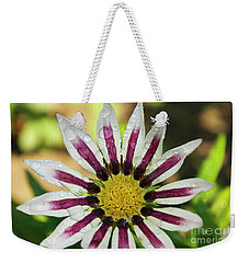 Nice Flower Weekender Tote Bag by Elvira Ladocki