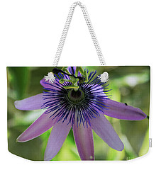 Purple Passiflora Weekender Tote Bag