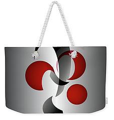 Weekender Tote Bag featuring the digital art 1313-2017 by John Krakora