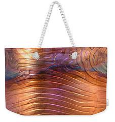 1343 Woodgrain Cuff Bracelet Weekender Tote Bag
