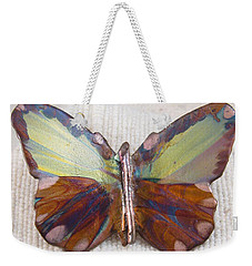 1351 Small Butterfly Pendant Weekender Tote Bag