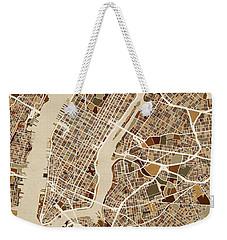 New York City Street Map Weekender Tote Bag