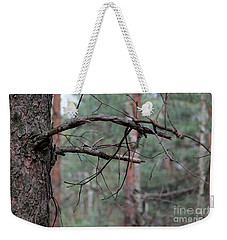 Weekender Tote Bag featuring the photograph Pine Twigs by Dariusz Gudowicz