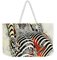 1457s-ak Rear View Nude Erotica In The Style Of Kandinsky Weekender Tote Bag