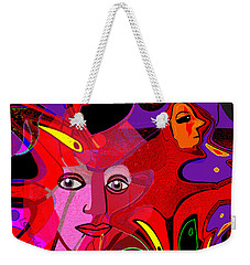 1480 - Fractal Light  2017 Weekender Tote Bag by Irmgard Schoendorf Welch