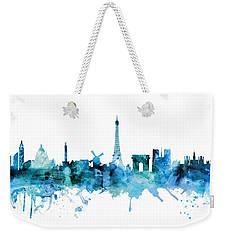 Paris France Skyline Weekender Tote Bag