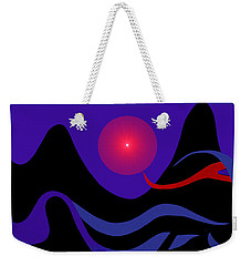 1536 - Red Mountain Sun -  2017 Weekender Tote Bag by Irmgard Schoendorf Welch