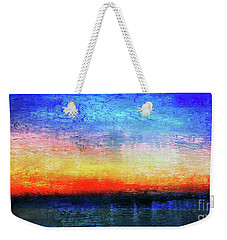 15a Abstract Seascape Sunrise Painting Digital Weekender Tote Bag