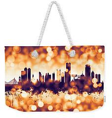 Boston Massachusetts Skyline Weekender Tote Bag