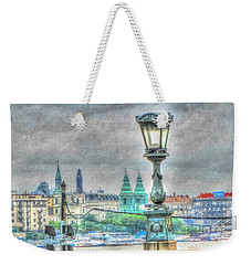 Weekender Tote Bag featuring the pyrography Budapesht by Yury Bashkin