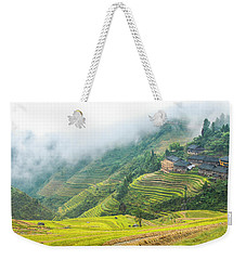 Terrace Fields Scenery In Autumn Weekender Tote Bag